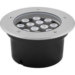 Интерьерная подсветка - Светильник тротуарный, 12LED холодный белый, 12W, 180*H90mm, внутренний диаме..., 0