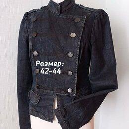 Жакеты - Жакет милитари джинсовый, 0