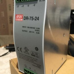 Блоки питания - Блок питания на DIN рейку, MEAN WELL - DR-75-24, , 0