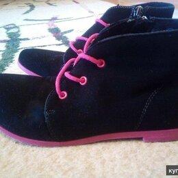Ботинки - ботинки черные замшевые для девочки 36 размер , 0