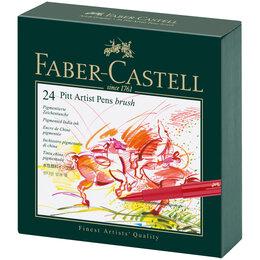 """Аксессуары - Набор капиллярных ручек Faber-Castell """"Pitt Artist Pen Brush"""" ассорти, 24шт.,..., 0"""