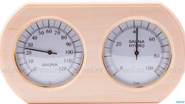 Аксессуары - TH-20A термогигрометр ОЧКИ овал (ольха) для бани, 0