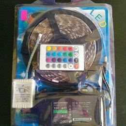 Светодиодные ленты - Светодиодная лента цветная 5м (5S) с пультом, 0