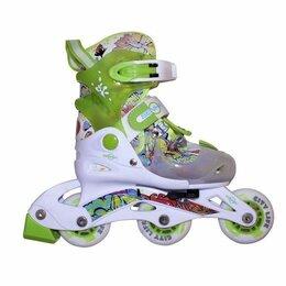Роликовые коньки - Раздвижные роликовые коньки Senhai Neon Зеленые, 0