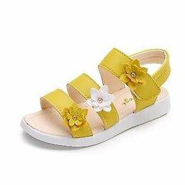 Босоножки, сандалии - Сандалии с цветами для девочек, 0