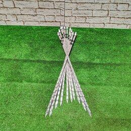 Шампуры - Шампуры 40 см с металлической ручкой, 0