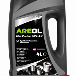 Масла, технические жидкости и химия - AREOL Max Protect 5W-40 (4L) масло моторное! синт, 0
