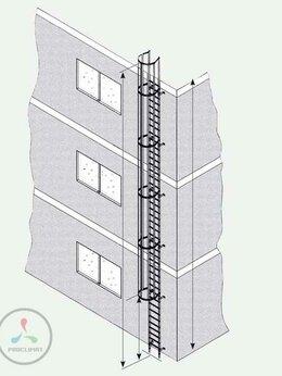 Лестницы и элементы лестниц - Односекционная настенная лестница Zarges 58265, 0