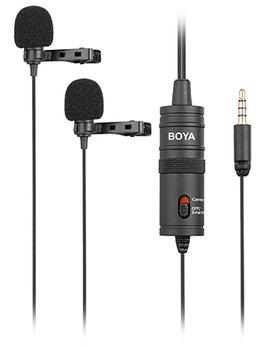 Микрофоны - Микрофон петличный двойной BOYA BY-M1DM Стерео, 0