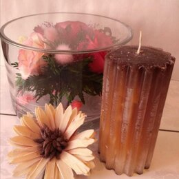Декоративные свечи - Свеча Рифлёная - Кофейная, 0