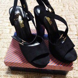 Босоножки - Черные стильные босоножки, 0