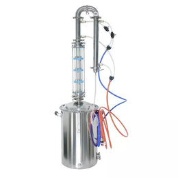 Самогонные аппараты - Самогонный аппарат Distillex, 50 л со стеклянной колпачковой колонной на 3 дюйма, 0