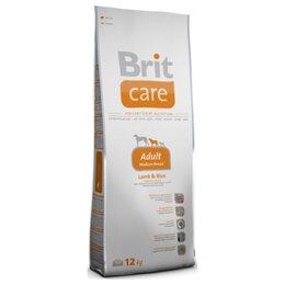 Корма  - Brit Care Adult Medium Breed Lamb Rice 12 кг Сухой корм для собак средних пород, 0