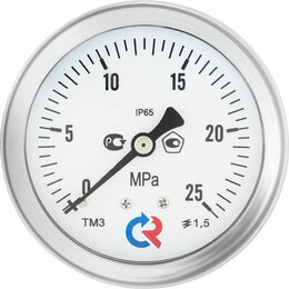 Измерительные инструменты и приборы - Манометр ТМ-520Т.00 (0-1МПа) М20х1,5.1,0 виброустойчивый «сухой», 0