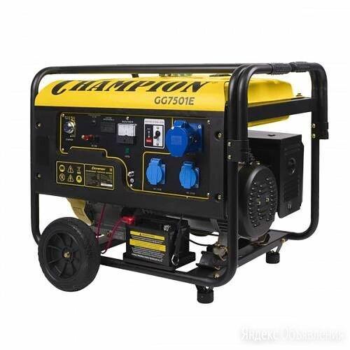 Генератор CHAMPION GG7501E по цене 45900₽ - Электрогенераторы и станции, фото 0
