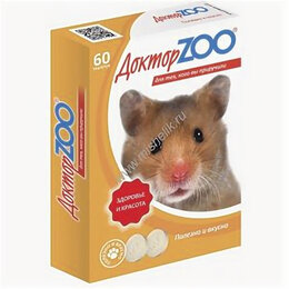 Лакомства  - Лакомство Доктор Zoo для грызунов мультивитаминное 60таб, 0