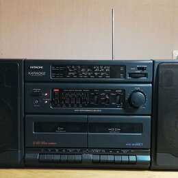 Музыкальные центры,  магнитофоны, магнитолы - Стереомагнитола hitachi MS-W570W Karaoke, 0