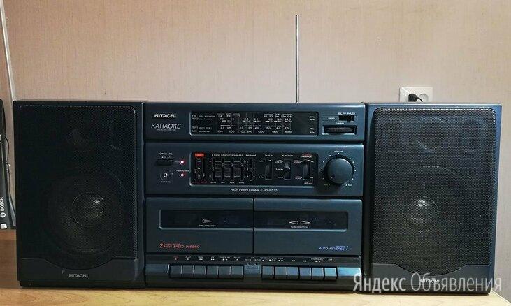 Стереомагнитола hitachi MS-W570W Karaoke по цене 5000₽ - Музыкальные центры,  магнитофоны, магнитолы, фото 0