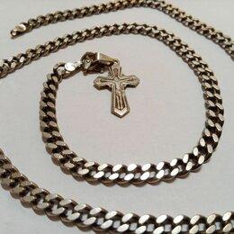 Цепи - Серебряная цепь  c крестиком 50 см. 33гр, 0
