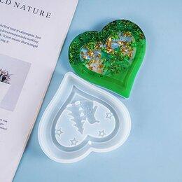 Новогодние фигурки и сувениры - EpoximaxX Силиконовый молд Новогоднее сердце 12 см, 0
