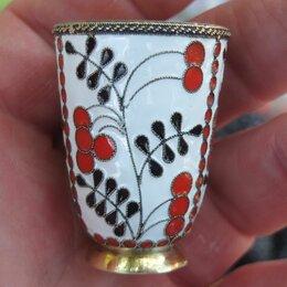 Рюмки и стопки - серебряная стопка в многоцветных эмалях, серебро 916 проба, 0