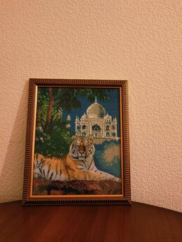 """Картины, постеры, гобелены, панно - Картина бисером """"Тигр"""", 0"""