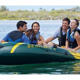 Надувные, разборные и гребные суда - Надувная лодка SEAHAWK-400 SET четырёхместная, 0