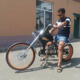 Мото- и электротранспорт - Велосипед с мотором OK-32003 Chopper от поставщика, 0