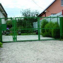 Заборы, ворота и элементы - Ворота на дачу распаные заполнение Панель 3D, 0