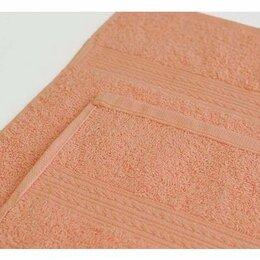 Постельное белье - Простыня махровая (180х220) плотность 380 гр. Персик, 0