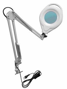 Лупы - Лупа лампа бестеневая настольная 5x-100мм с…, 0