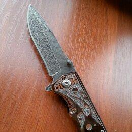 Ножи и мультитулы - Складной нож mkm knives arvensis damasteel, 0