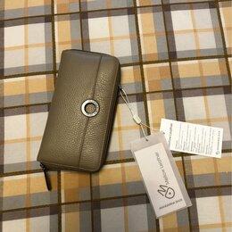Кошельки - Italy Mandarina Duck бежево-серый кожаный кошелек Новый, 0