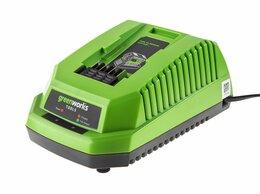 Аккумуляторы и зарядные устройства - Зарядное устройство Greenworks G40UC, 0