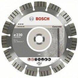 Диски отрезные - Алмазный диск Bosch Алмазный отрезной круг по бетону 2.2х230мм Best for Concr..., 0