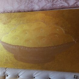 """Картины, постеры, гобелены, панно - Картина""""Большие яблоки в золоте""""(двухсторонняя), 0"""