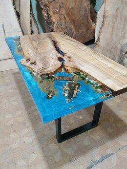 Столы и столики - Кофейный столик река Кофейный столик из массива, 0