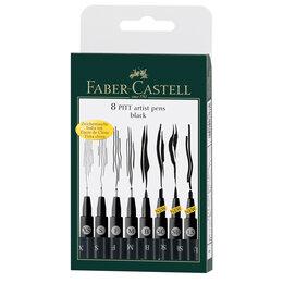 """Аксессуары - Набор капиллярных ручек Faber-Castell """"Pitt Artist Pen"""" черные, 8шт., 0,1/0,3..., 0"""