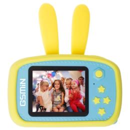 Игровые наборы и фигурки - Детская камера Кролик GSMIN Fun Camera Rabbit желтый, 0