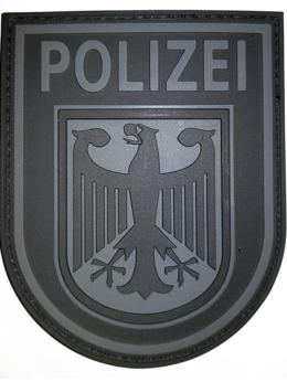 Военные вещи -  Нашивка Федеральной полиции Германии, цвет черный, 0