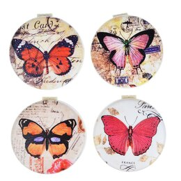 "Кошельки - Зеркало ""KWELT"" Бабочки 4 дизайна 9,8*6,5см, 0"
