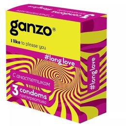 Презервативы - ПРЕЗЕРВАТИВЫ GANZO LONG LOVE №3 (пролонгирующие), 0