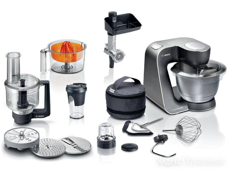 Кухонный комбайн Bosch MUM59M55 черный по цене 44914₽ - Кухонные комбайны и измельчители, фото 0