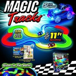 Машинки и техника - Magic Tracks Гибкий светящийся, 0