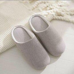 Домашняя обувь - Новые домашние тапки, хлопок, 0