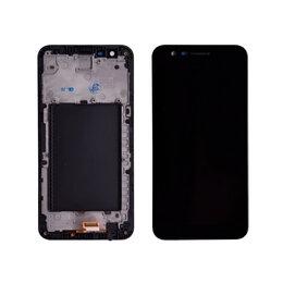 Дисплеи и тачскрины - Дисплей + тачскрин LG K10 2017 на рамке черный, 0