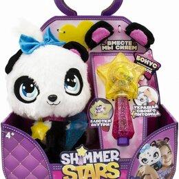Мягкие игрушки - Мягкая игрушка shimmer stars плюшевая панда (s19300) белый/черный 20см (4+), 0