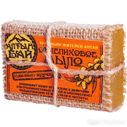 """Мыло натуральное ручной работы """"ОБЛЕПИХОВОЕ"""" смягчающее, 80 гр. по цене 128₽ - Мыло, фото 0"""