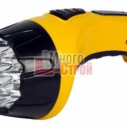 Настольные игры - Аккумуляторный светодиодный фонарь 7+8 LED с прямой зарядкой Smartbuy, желтый, 0