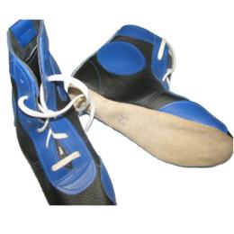 Аксессуары и принадлежности - Борцовки кожа синие 5872  (34), 0
